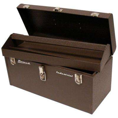 Professional 24 in. Industrial Tool Box in Brown Wrinkle