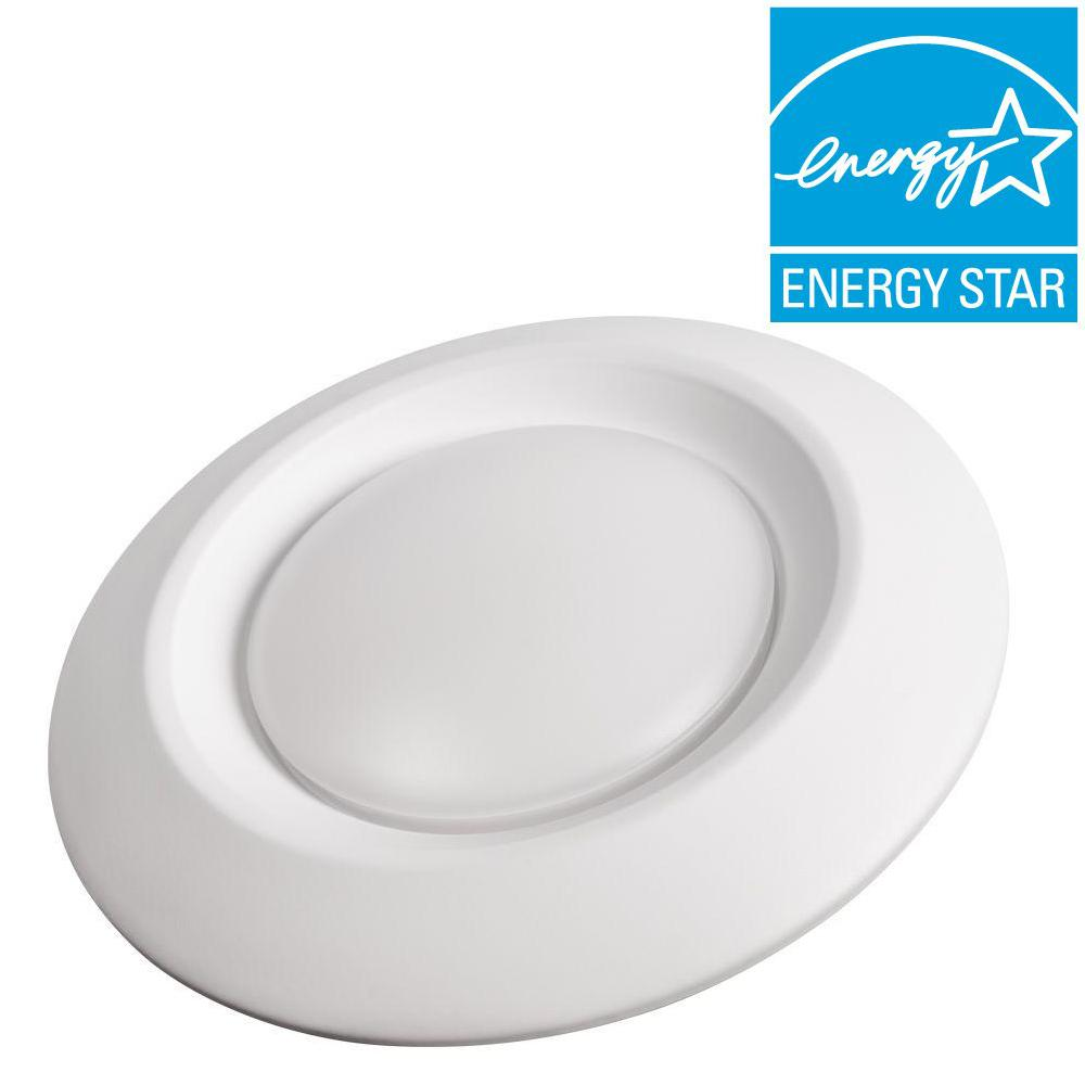 Commercial electric 4 in soft white recessed led can disk light ce soft white recessed led can disk light ce jb4 600l 27k e26 2 the home depot aloadofball Images