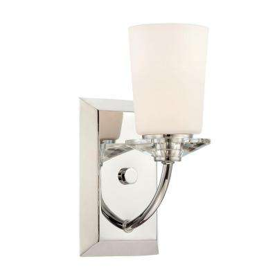 Palatial 1-Light Chrome Interior Incandescent Bath Vanity Light