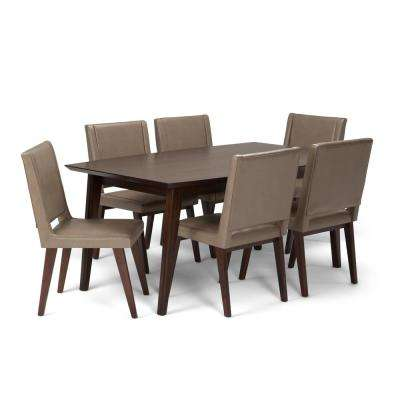 Draper Mid Century 7-Piece Ash Blonde Dining Set