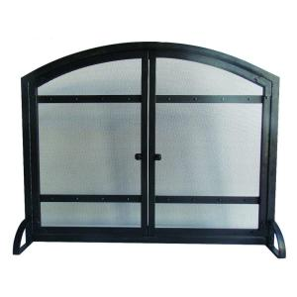Harper 1-Panel Fireplace Screen with Doors