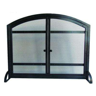 Harper 1-Panel Fireplace Screen with Doors