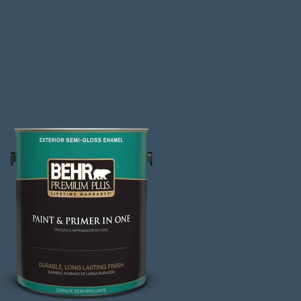 1-gal. #560F-7 Twilight Chimes Semi-Gloss Enamel Exterior Paint