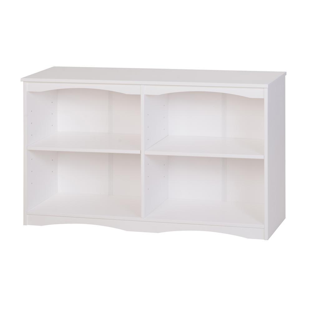 Essentials White 51 in. W Wooden Bookcase