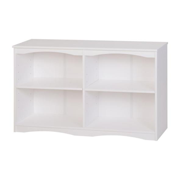 Camaflexi Essentials White 51 in. W Wooden Bookcase