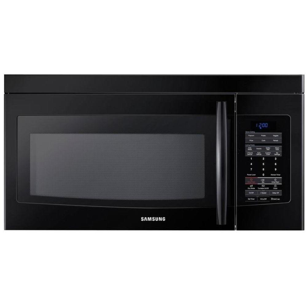 Samsung 1.7 cu. ft. Over the Range Microwave in Black with Sensor Cooking-DISCONTINUED