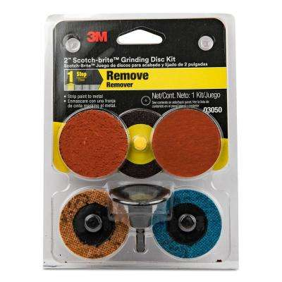 Scotch-Brite 2 in. Assorted Grit (36, 80, 120, 800, 1000) Grinding Disc Kit