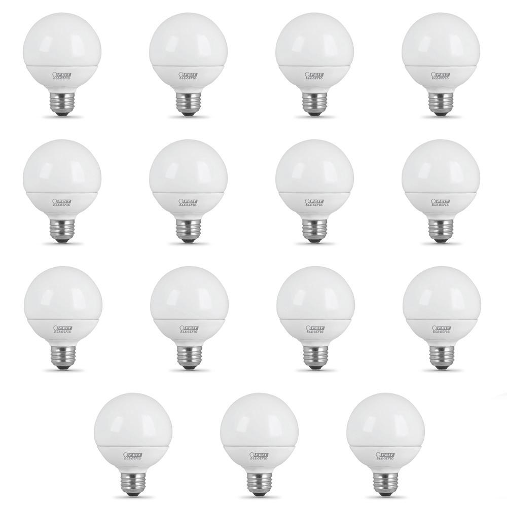 40-Watt Equivalent (3000K) G25 LED Light Bulb, Warm White (15-Pack)
