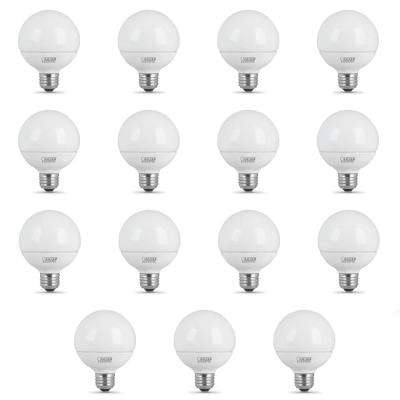 40-Watt Equivalent (3000K) G25 LED Light Bulb, Warm White (15-Pack)