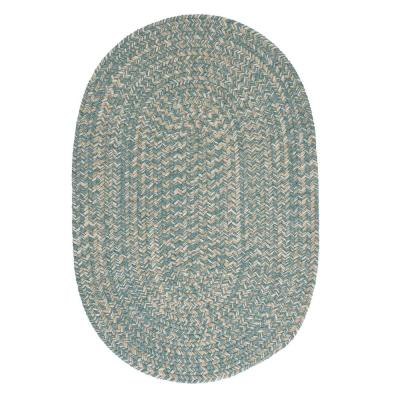 Cicero Teal 5 ft. x 8 ft. Oval Braided Area Rug