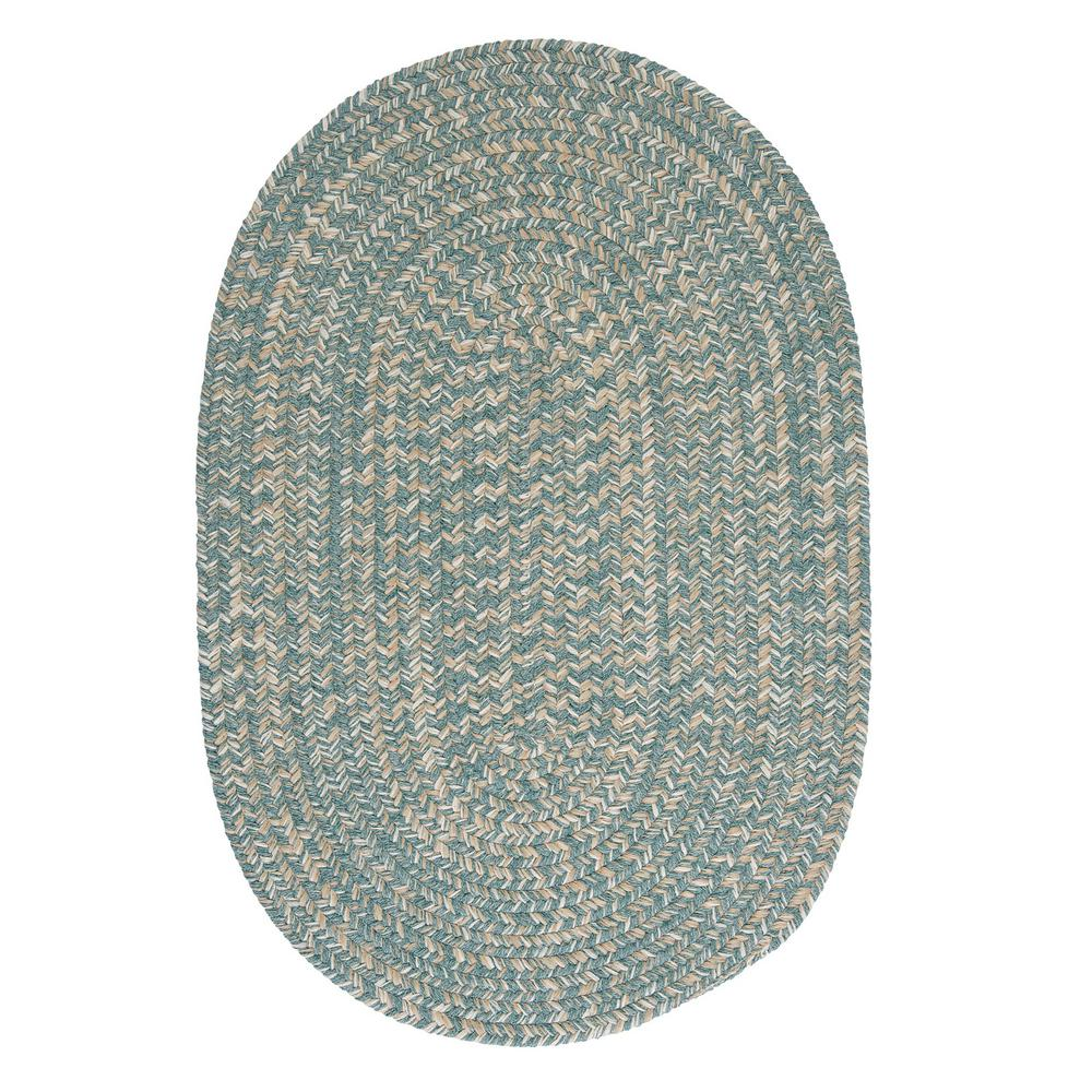 Home Decorators Collection Cicero Teal 7 ft. x 9 ft. Braided Oval Area Rug