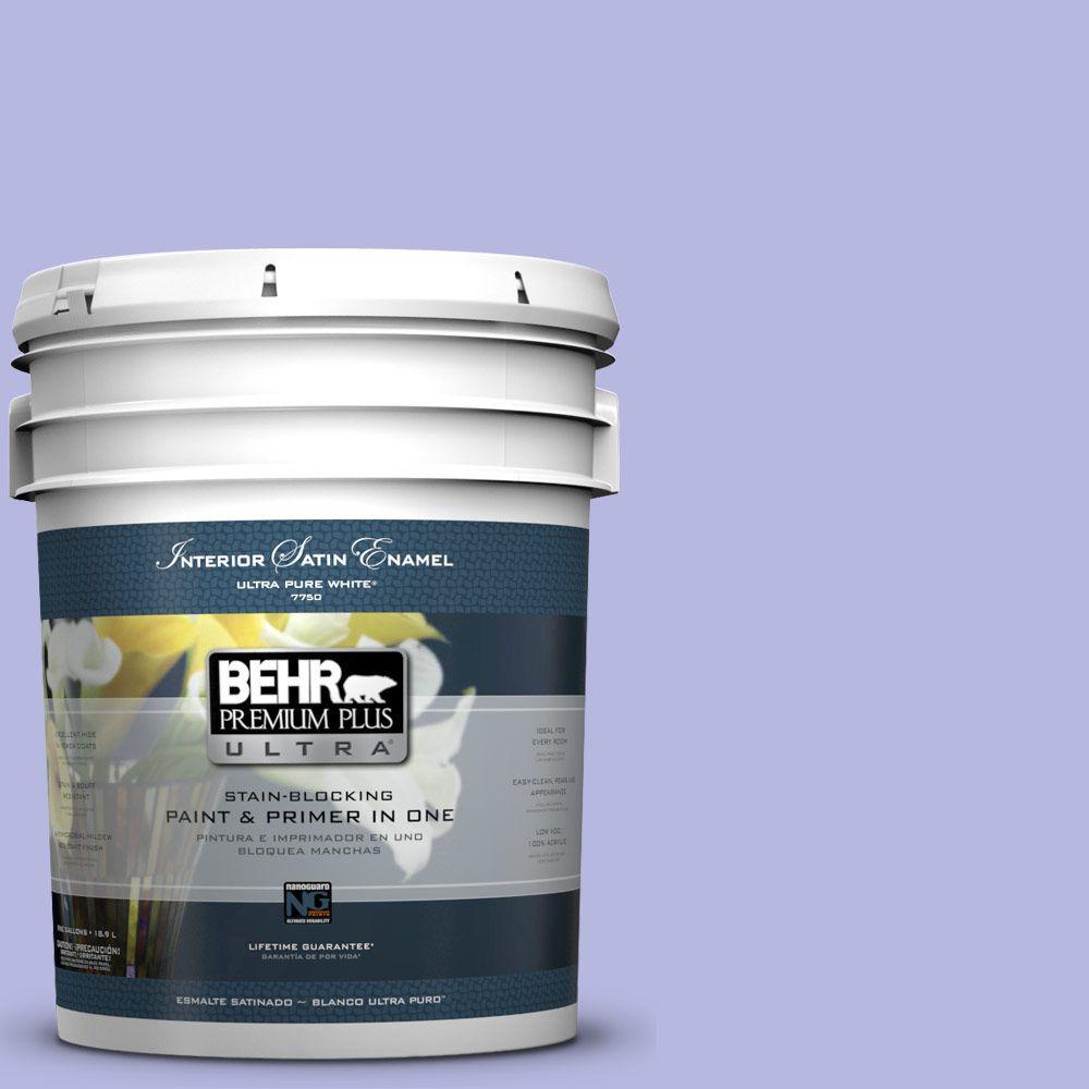BEHR Premium Plus Ultra 5-gal. #P550-3 Lavender Cloud Satin Enamel Interior Paint