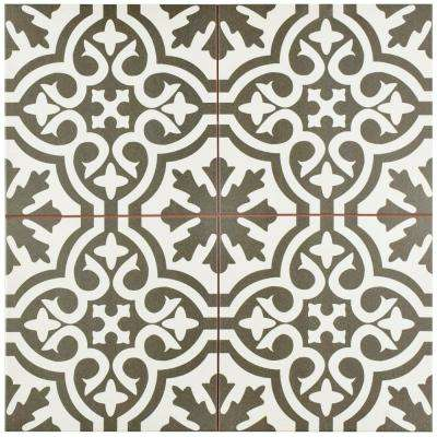 Berkeley Charcoal Brown Encaustic 17-5/8 in. x 17-5/8 in. Ceramic Floor and Wall Tile (11.1 sq. ft. / case)