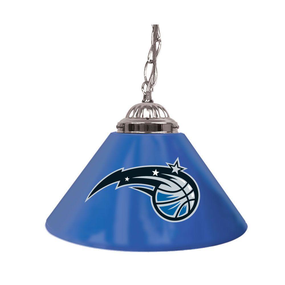Trademark Global Orlando Magic NBA 14 in. Single Shade Stainless Steel Hanging Lamp