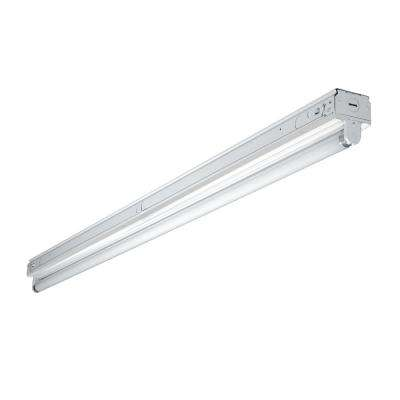 4 ft. White Narrow Fluorescent Strip Light Fixture with 1 T8 Light Socket
