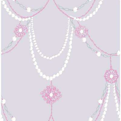 Kids Dressed Up Lilac and Fuchsia Drape Wallpaper
