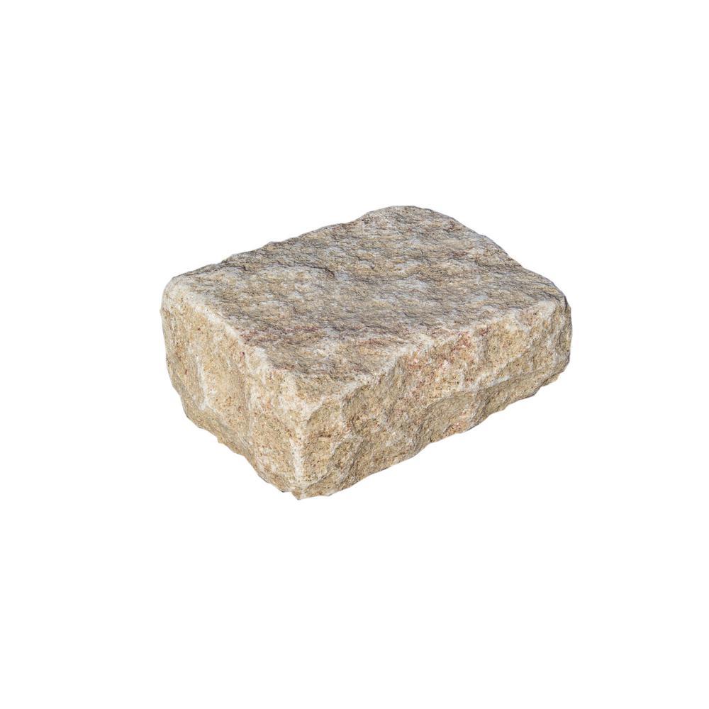 Cobblestone 10 in. x 7 in. x 4 in. Tan Granite Edging (50-Pieces/41 lin. ft./Pallet)