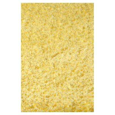 Cushy Shag Yellow 7 ft. 6 in. x 9 ft. 6 in. Area Rug