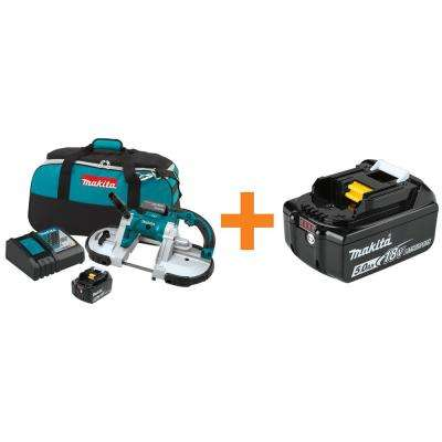 18-Volt LXT 5.0Ah Lithium-Ion Cordless Portable Band Saw Kit with Bonus 18-Volt LXT Lithium-Ion Battery Pack 5.0Ah