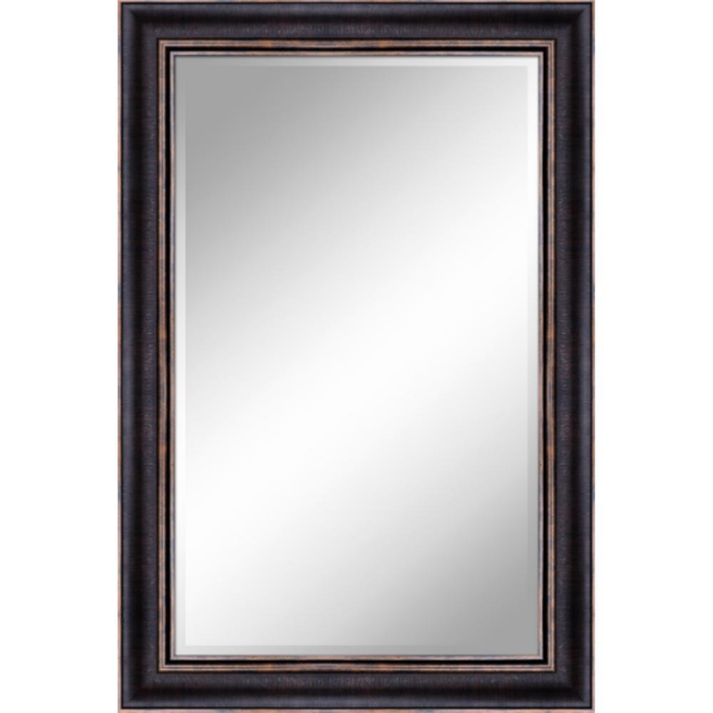 24 In X 36 In Bronze Gold Mirror In 1 In Bevel With 3 5 In Frame
