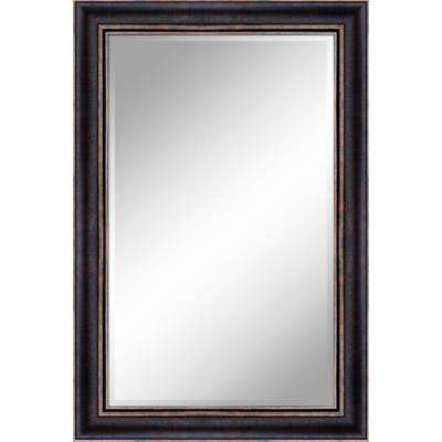 24 in. x 36 in. Bronze Gold Mirror in 1 in. Bevel with 3.5 in. Frame