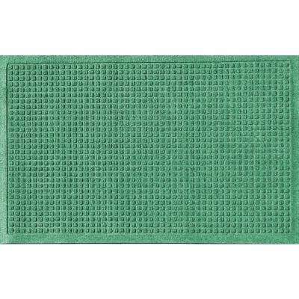 Light Green 24 in. x 36 in. Squares Polypropylene Door Mat