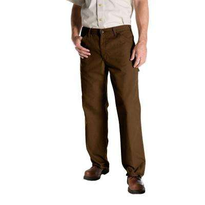 Relaxed Fit 36 in. x 34 in. Duck Dungaree Jean Timber