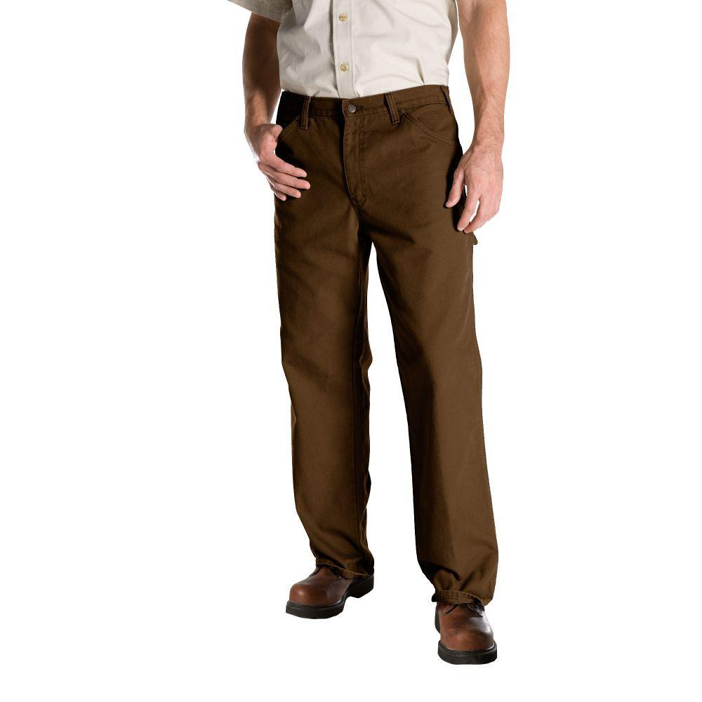 Dickies Relaxed Fit 42 in. x 32 in. Duck Dungaree Jean Timber