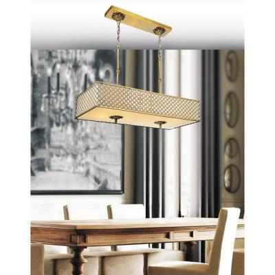 Gloria 6-Light French Gold Chandelier with Beige shade