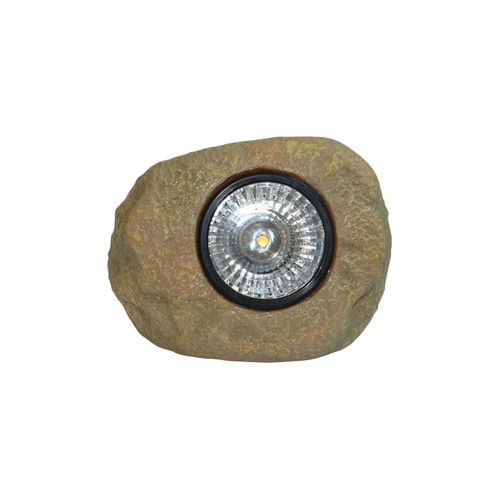 hampton bay 1-Light Solar Outdoor Integrated LED Rock Spot Light
