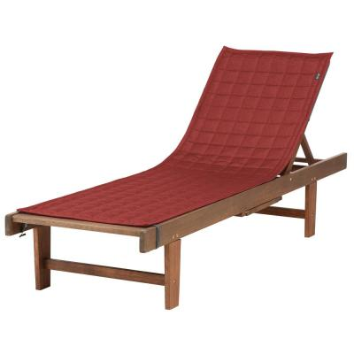 Montlake FadeSafe 72 in. L x 21 in. W Heather Henna Patio Chaise Lounge Slipcover