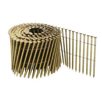 3-1/4 in. x 0.120 in. Galvanized Metal Coil Nails 2700 per Box