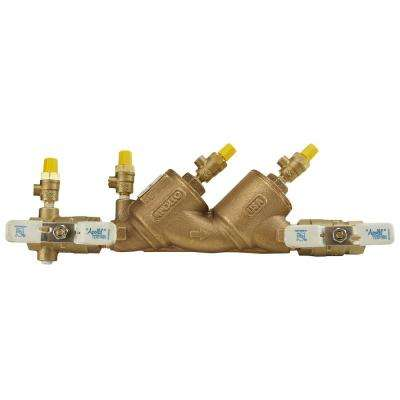 3/4 in. Lead Free Bronze FIP Double Check Backflow Preventer