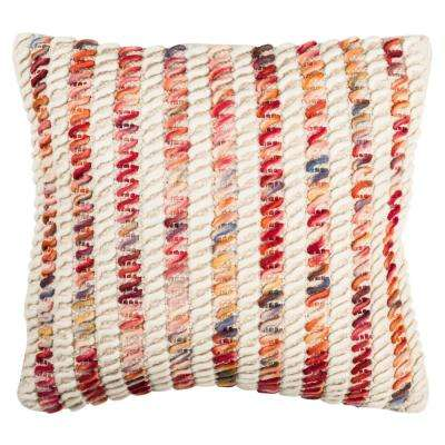 Candy Cane Looped Textures and Weaves Pillow