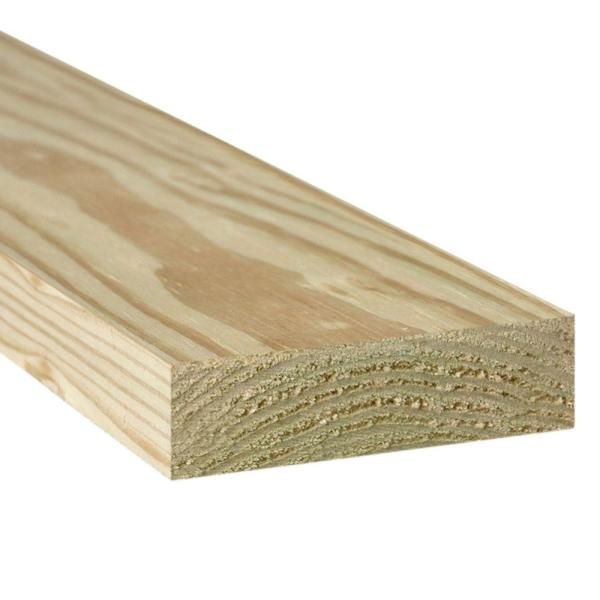 2 in. x 10 in. x 16 ft. #2 Ground Contact Pressure-Treated Lumber