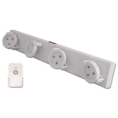 2.25 in. White LED Track-Light with Remote