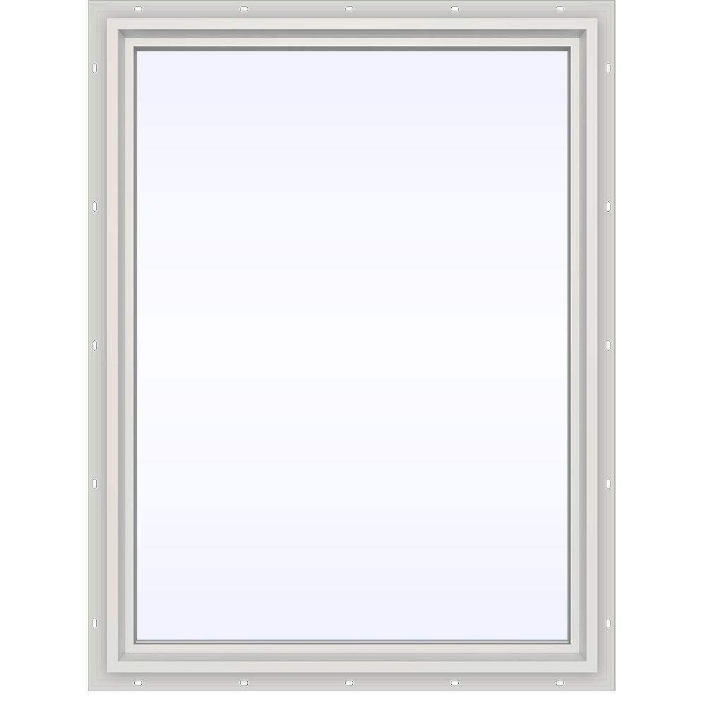 JELD-WEN 35.5 in. x 47.5 in. V-4500 Series White Vinyl Picture Window w/ Low-E 366 Glass