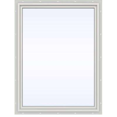 35.5 in. x 47.5 in. V-4500 Series White Vinyl Picture Window w/ Low-E 366 Glass