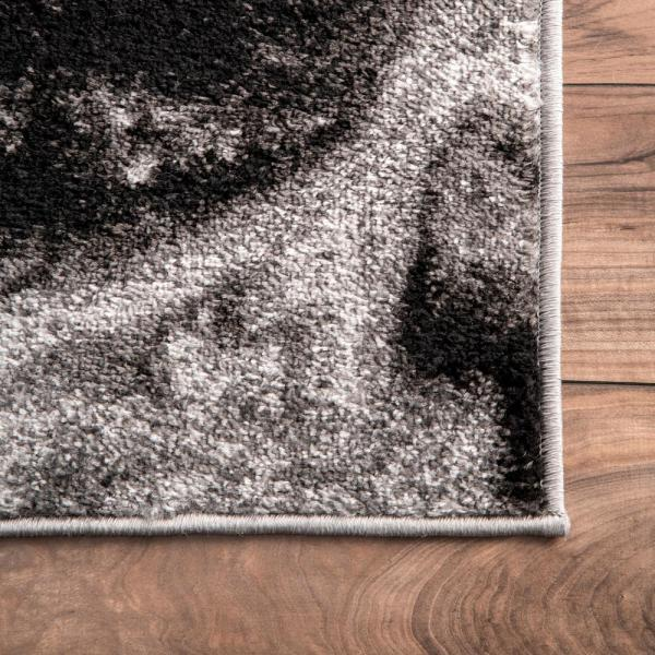 Nuloom Remona Abstract Black White 8 Ft X 10 Ft Area Rug Bdsm11a 76096 The Home Depot