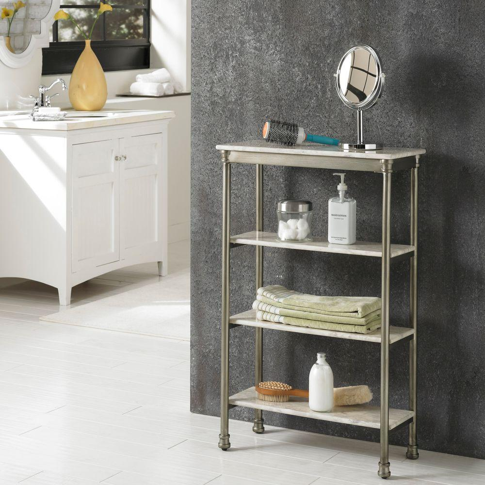Home Styles The Orleans 11 in. D x 24 in. W x 38 in. H 4-Tier Shelf ...