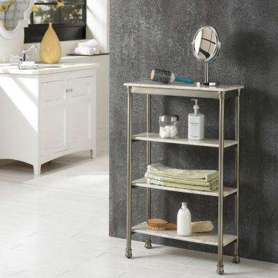 The Orleans 11 in. D x 24 in. W x 38 in. H 4-Tier Shelf