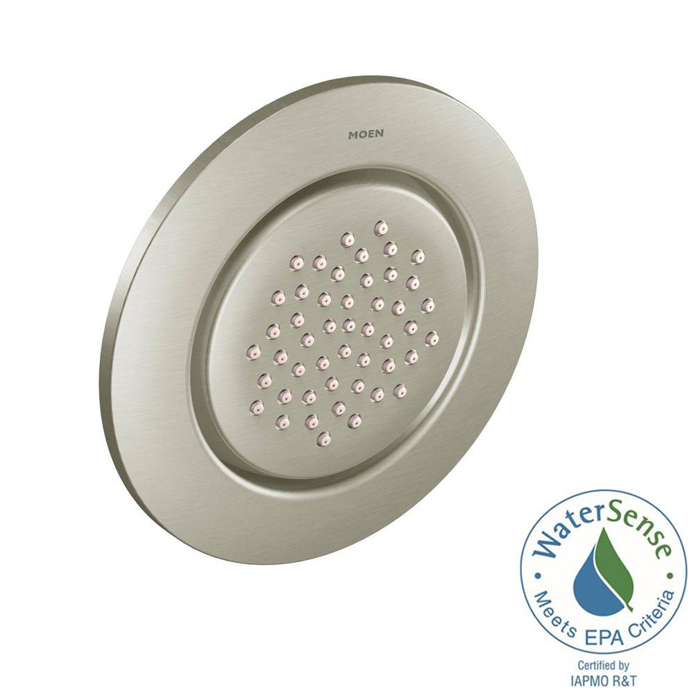 MOEN Round Body Spray in Brushed Nickel-TS1322BN - The Home Depot