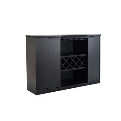 Faith Black Buffet with Wine Rack