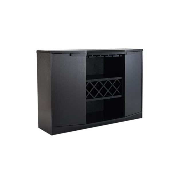 Furniture of America Faith Black Buffet with Wine Rack YNJ-1445-1