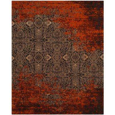 Classic Vintage Rust/Brown 8 ft. x 10 ft. Area Rug