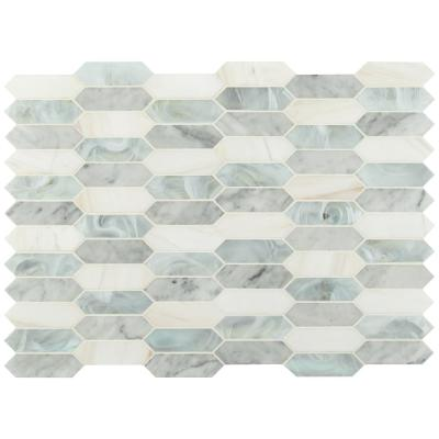 Cienega Springs 10 in. x 13.78 in. x 6mm Textured Picket Multi-Surface Mesh-Mounted Mosaic Tile (14.4 sq. ft./Case)