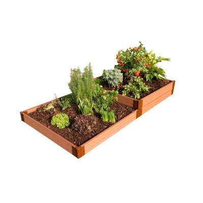 One Inch Series 4 ft. x 8 ft. x 11 in. Composite Terraced Multi-level Raised Garden Bed Kit