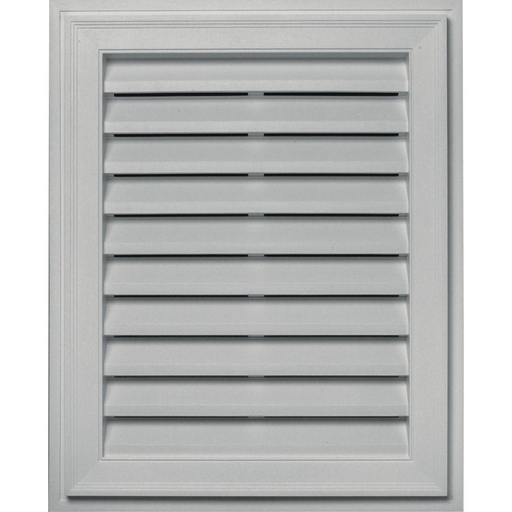 Builders Edge 20 in. x 30 in. Brickmould Gable Vent in Paintable