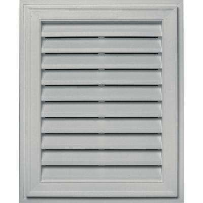 20 in. x 30 in. Brickmould Gable Vent in Paintable