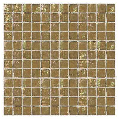 Egyptian Glass Sahara 12 in. x 12 in. x 6 mm Glass Face-Mounted Mosaic Wall Tile